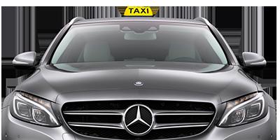 logo van mercedes met taxi